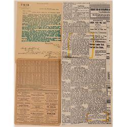 Trib-A-Liniment Letterhead & Advertising Card  (113392)