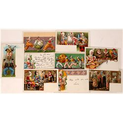 Circus Clown Series of Litho Pioneer Postcards Carte Postale (8)  (127315)