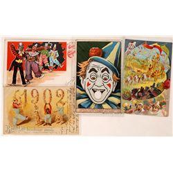 Circus Litho Postcards (4)  (127313)