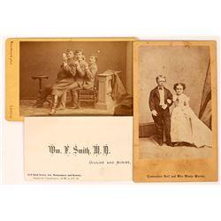 Circus Performers G.W Nutt & Minnie Warren 1870 Cartes de Visite (2)  (127312)