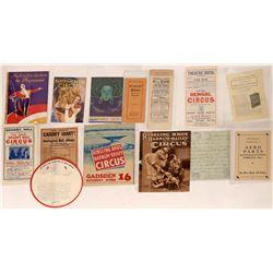 Circus Program Collection  (124670)