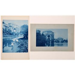 Two Pan Pacific Cyanotype Postcards  (125835)