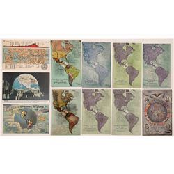 Pan Pacific Expo Map Postcards  (125834)