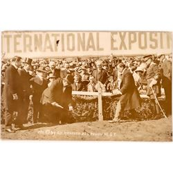 President Taft Opens Construction Pan Pacific Expo RPC  (126492)