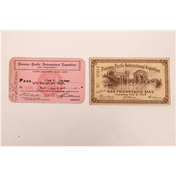 Panama-Pacific International Exposition Ticket and Pass  (125468)