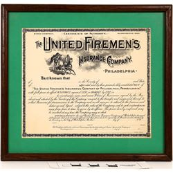 Fireman's Certificate and Letterheads - Lot of 2  (122318)