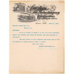 American Fire Engine Co. Pictorial Letterhead