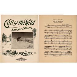 Art of Sheet Music: Alaska Gold Rush: Jack London's Call of the Wild  (124706)