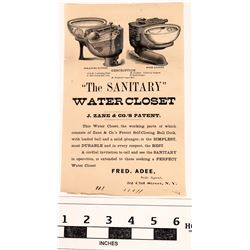 """The Sanitary Water Closet"" or Flush it Down  (123496)"