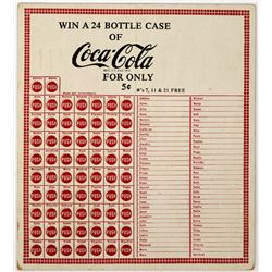 Coca Cola Push Card Game  (124422)