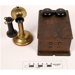 Western Electric Wall Mounted Phone with Kellogg Candlestick    (125600)