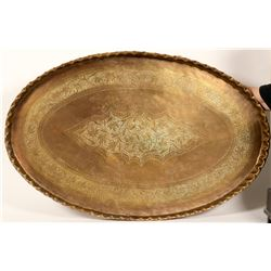 Huge Brass serving Tray/ from East India  (89560)