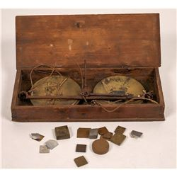 Early British Pocket Scale in Box  (126950)