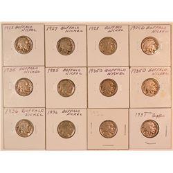 Buffalo Nickels  (124445)