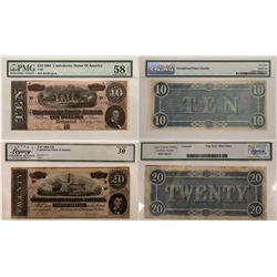 Confederate States of America $10 & $20 Notes  (124435)
