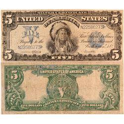 Native American $5 Silver Certificate  (124436)