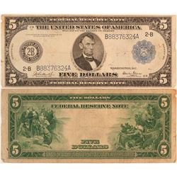 Series of 1914 U.S. $5 Federal Reserve Note  (124438)