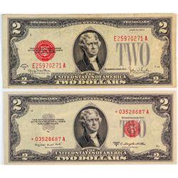 Small Size Legal Tender U.S. $2 Bills  (124439)