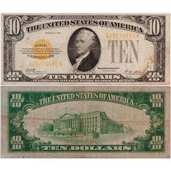 $10 U.S. Gold Certificate  (124433)