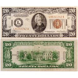$20 Hawaii Federal Reserve Note  (124432)