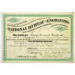 National Bureau of Engraving Stock Certificate, 1888  (118717)
