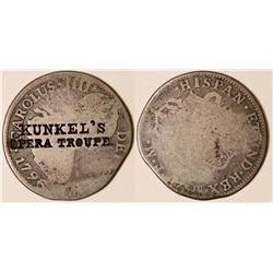 Kunkel Counterstamped 1796 2 Reales  (127064)
