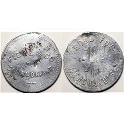 Johnson, A. T., Fiege & Col, 1 Dollar Token  (119911)