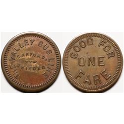 Rare Transporation token - The Valley Bus Line  (119917)