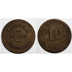 Williams, Arizona, L. Mora Milk  Trade Token  (10c)  (117976)