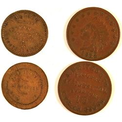 Illinois Sutler Tokens (2)  (127074)
