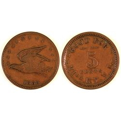 Kentucky Sutler Token, 1863  (127075)