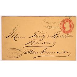 Columbia Wells Fargo Cover Addressed To and From Bankers  (123792)