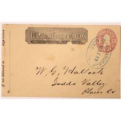 Gold Run Wells Fargo Cover - Rare  (123798)