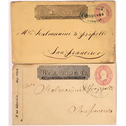 Two Different Hornitos, Mariposa Wells Fargo Stamped Envelope  (123790)