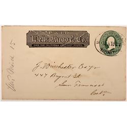 Monitor, Alpine County Wells Fargo Postmark - Unlisted in Leutzinger  (123814)