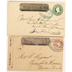 Two Placerville, California Wells Fargo Covers  (123778)
