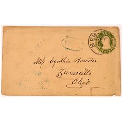 Rattlesnake Postmark on 'ten cents, green, Washington, U9.   (123812)