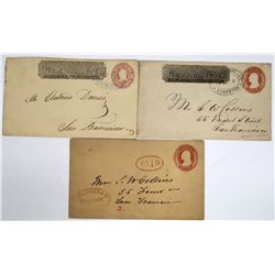 Three Different Wells Fargo Covers from Stockton, California  (123781)
