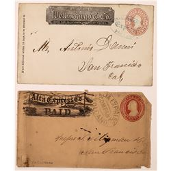 Wells Fargo and Alto Express Covers from Volcano, SCARCE  (123763)