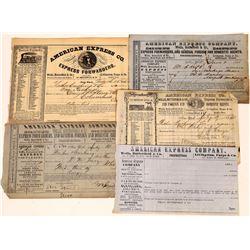 Five Different Pieces American Express Co. / Wells Butterfield Ephemera - !850's  (123721)