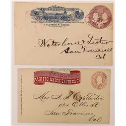 Pacific Union Express and Wells Fargo Columbian Issue covers  (123806)