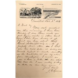 Letter from Colorado & Wyoming Stage Mail & Express Company  (122520)