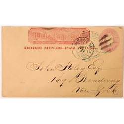 Wells, Fargo & Co. Boise Mines--Paid 50 Cts.  (123762)