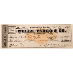 Wells, Fargo & Co., San Francisco-Owyhee Mining Company Check  (123734)
