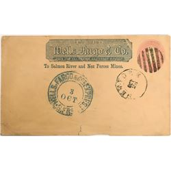 "Wells Fargo & Co., with preprinted ""Salmon River and Nez Perces Mines""  (123777)"