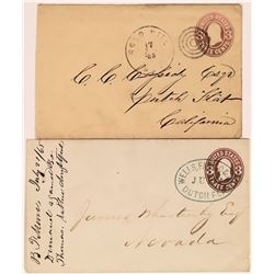 Interesting Pairing of Gold Hill, Nevada and Dutch Flat, California Wells Fargo Covers  (123783)