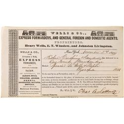 Wells & Company (precursor of Wells, Fargo), Forwarder, Domestic and Foreign Agents, 1849  (123729)