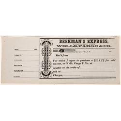 Beekman's Express receipt Datelined Jacksonville, O. T.  (123738)