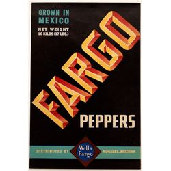 Wells Fargo Peppers Label  (127059)