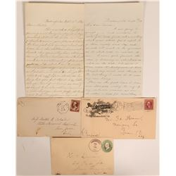 Three Early Bakersfield Covers & Letters  (112641)